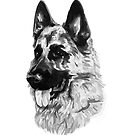 German Shepherd dog lovers by texashandmade