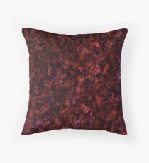 Red Rust Galaxy Texture  Throw Pillow