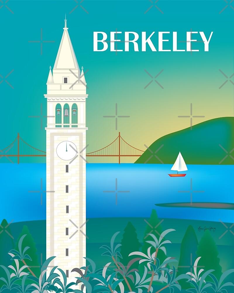 Berkeley, California - Skyline Illustration by Loose Petals by LoosePetals