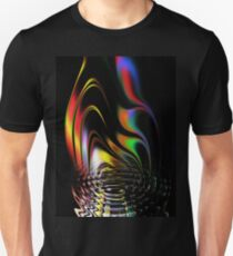 fire, abstract, color, smoke, water, waves, white, neon, fractal, psychedelic, art, wild, black Unisex T-Shirt