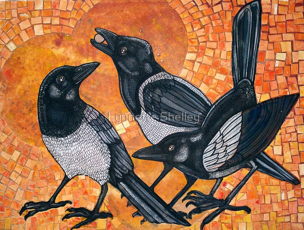 Three Magpies by Lynnette Shelley