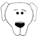 Dog Lovers Silly Face of Labrador by texashandmade