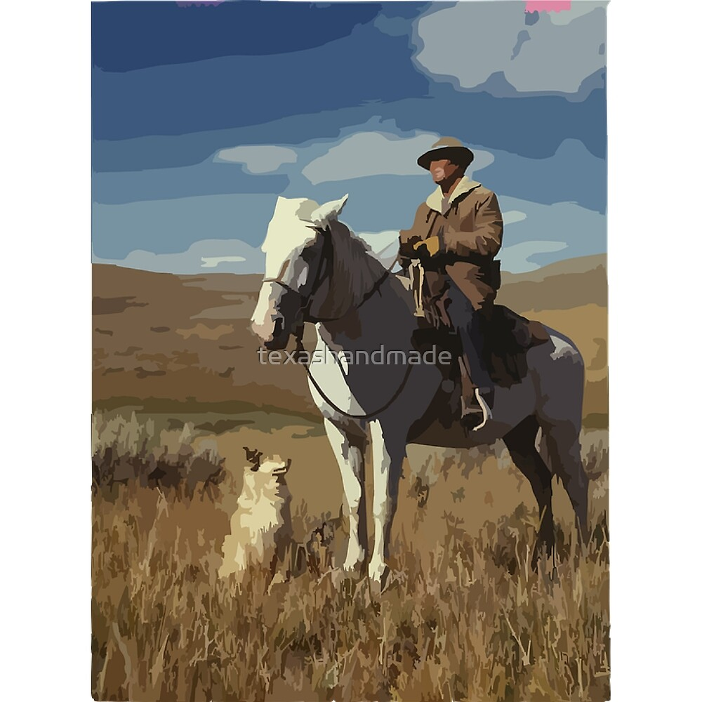 Western Cowboy and Dog by texashandmade