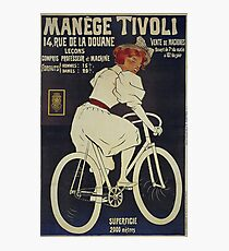 old retro vintage Bicycle poster Photographic Print
