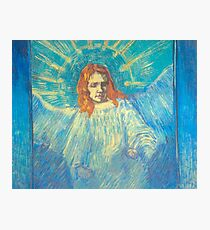'Half Figure of an Angel' by Vincent Van Gogh (Reproduction) Photographic Print