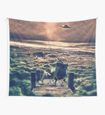 Fishing Above the Clouds Wall Tapestry
