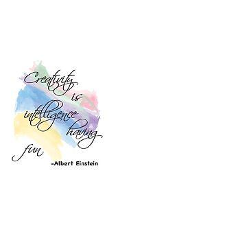 Creativity Quote Albert Einstein by Shendz