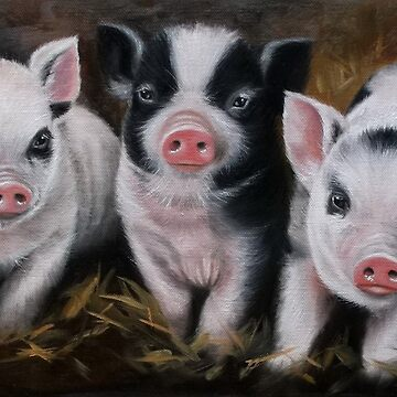 Three little piglets by AnetDuToit