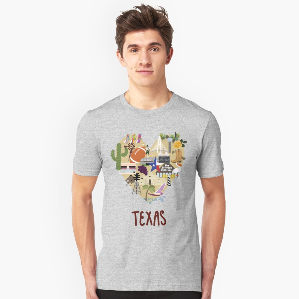 I Love Texas Southern Merch Unisex T-Shirt Front
