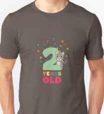 Two Years second Birthday Party Cat R7fw4 Unisex T-Shirt