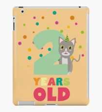 Two Years second Birthday Party Cat R7fw4 iPad Case/Skin