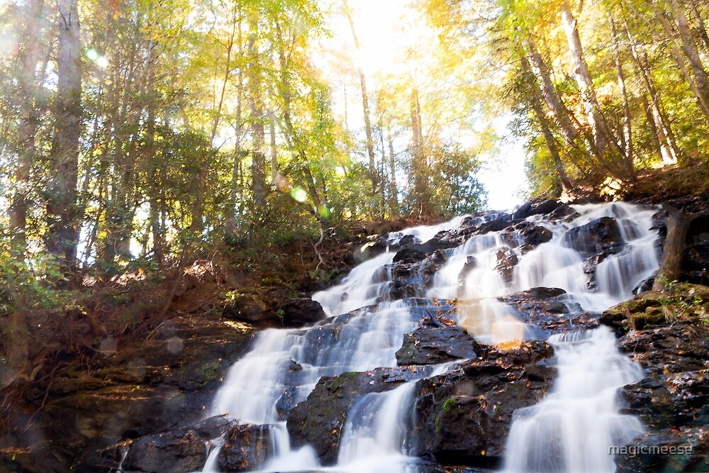 The Sun Peaks Through the Falls by magicmeese
