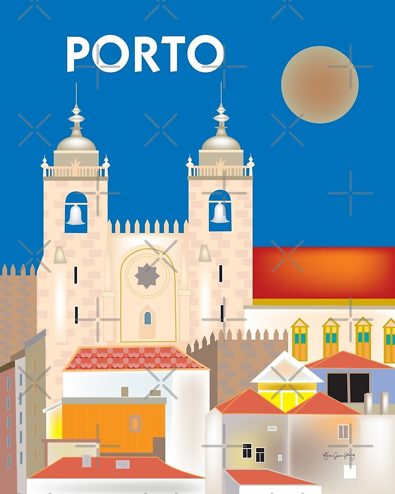 Porto, Portugal - Skyline Illustration by Loose Petals by LoosePetals