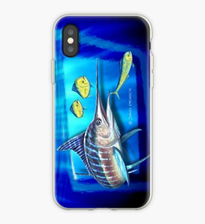 Striped Marlin & Dolphin fish iPhone Case