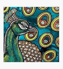 Peacock Blue Photographic Print