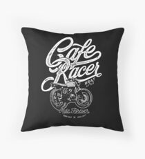 Cafe Racer, Motorcycle, Ride Forever Throw Pillow