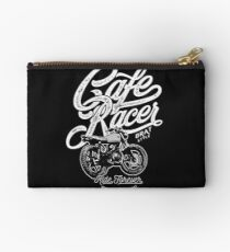 Cafe Racer, Motorcycle, Ride Forever Studio Pouch