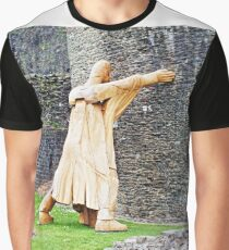 The wooden man holding up the subsiding wall Graphic T-Shirt