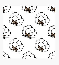 cotton seamless doodle pattern Photographic Print
