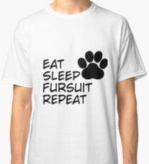 Eat Sleep Fursuit Repeat Classic T-Shirt