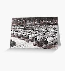 B-17 Aircraft Factory WW2  Greeting Card