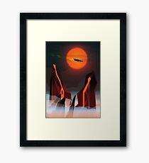 Sci-Fi Sunset Framed Print