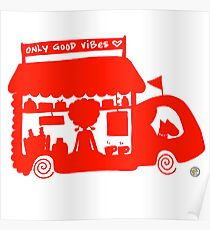 Cool Red Food Truck! Poster