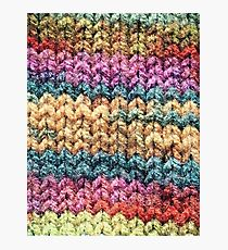 Knitted colours. Photographic Print
