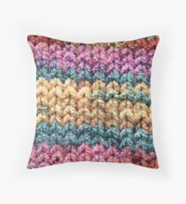Knitted colours. Throw Pillow