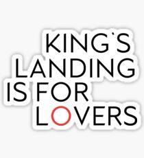 King's Landing is for Lovers Sticker