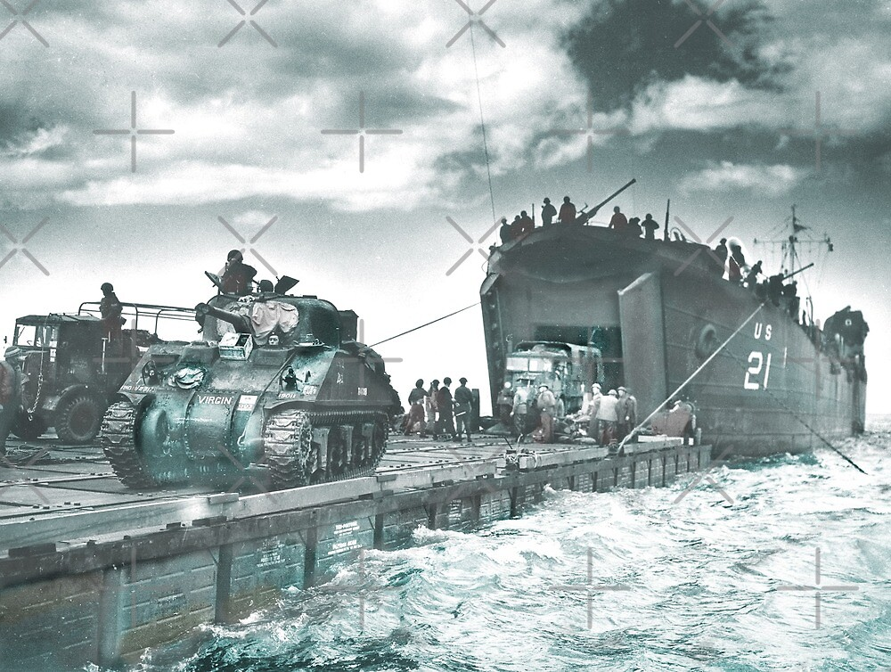 Mulberry Deep Water Harbor D-Day by diane  addis