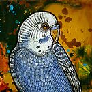 Blue Parakeet by Lynnette Shelley