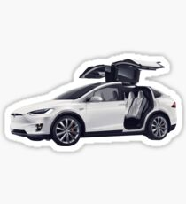 Tesla Back To The Future  Sticker