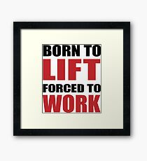 Weight Lifting Framed Print