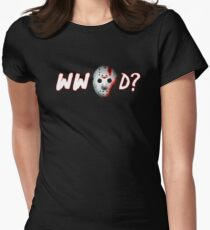 what would jason do?... Women's Fitted T-Shirt