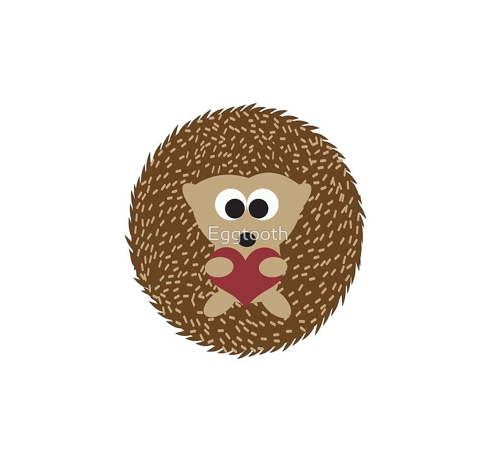 Cute Hedgehog Hugging a Heart by Eggtooth