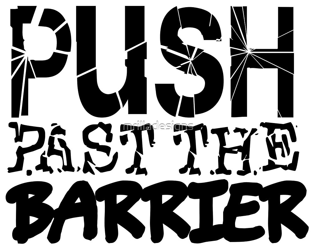 push past the barrier gym by mrilladesigns