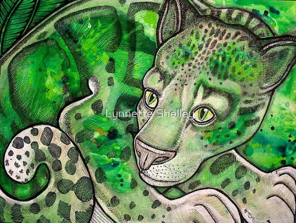 Crouching Leopard by Lynnette Shelley