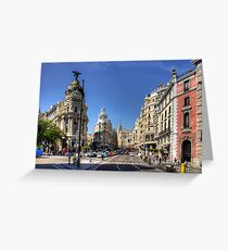The end of the Calle de Alcalá Greeting Card