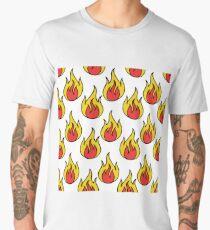 fire seamless doodle pattern Men's Premium T-Shirt