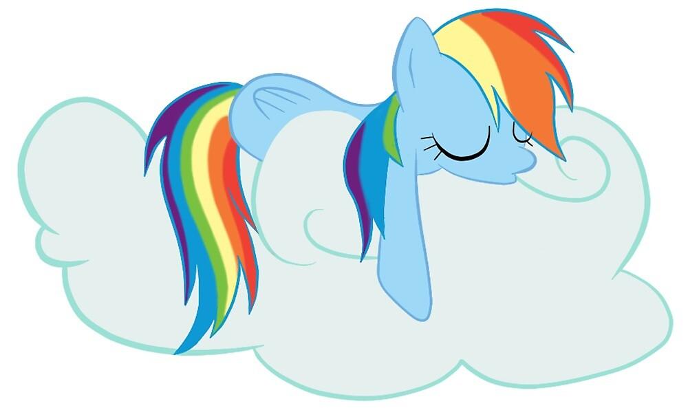Sleeping Rainbow Dash - MLP  by HeckinPones