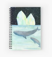 Cool whales on Antarctica Spiral Notebook