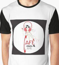Sketchy Beats Cafe Graphic T-Shirt
