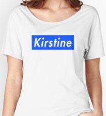 Kirstine box logo Women's Relaxed Fit T-Shirt