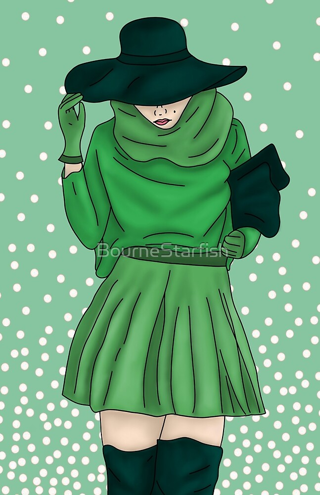 Urban Girl Green by BourneStarfish