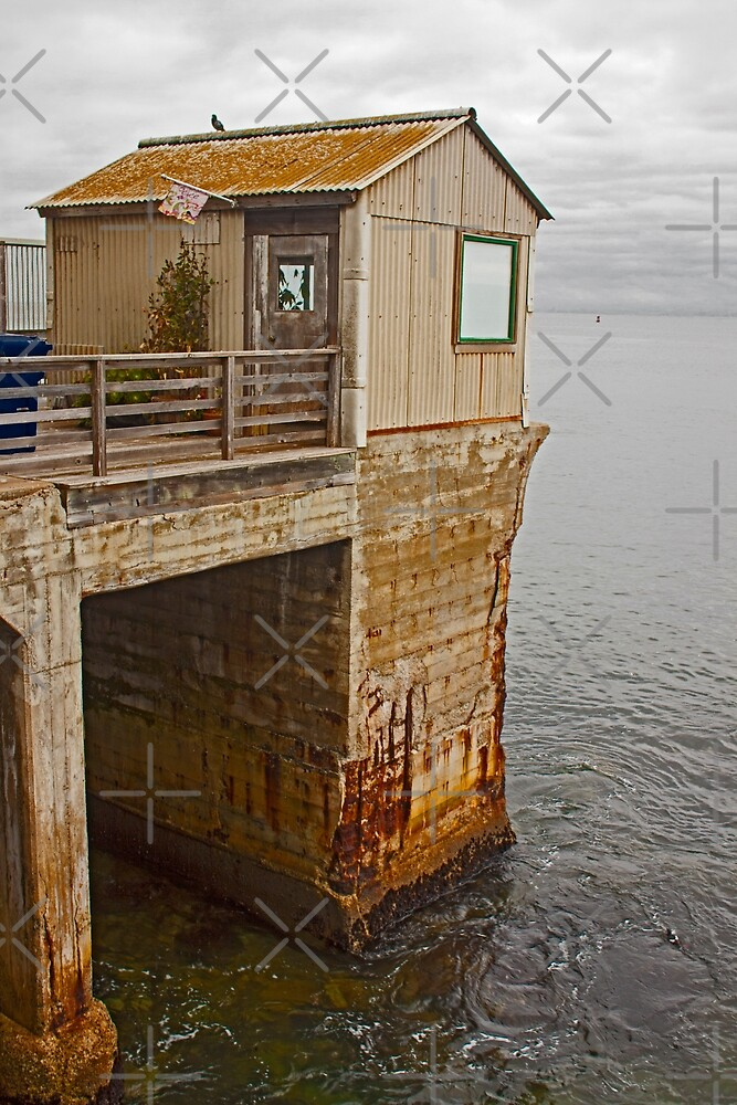 Little Cabin on the End of the Pier - Monterey California by Buckwhite