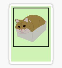 Fat Cat In Box Sticker