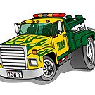 Tow B Tow Truck Cartoon by Graphxpro