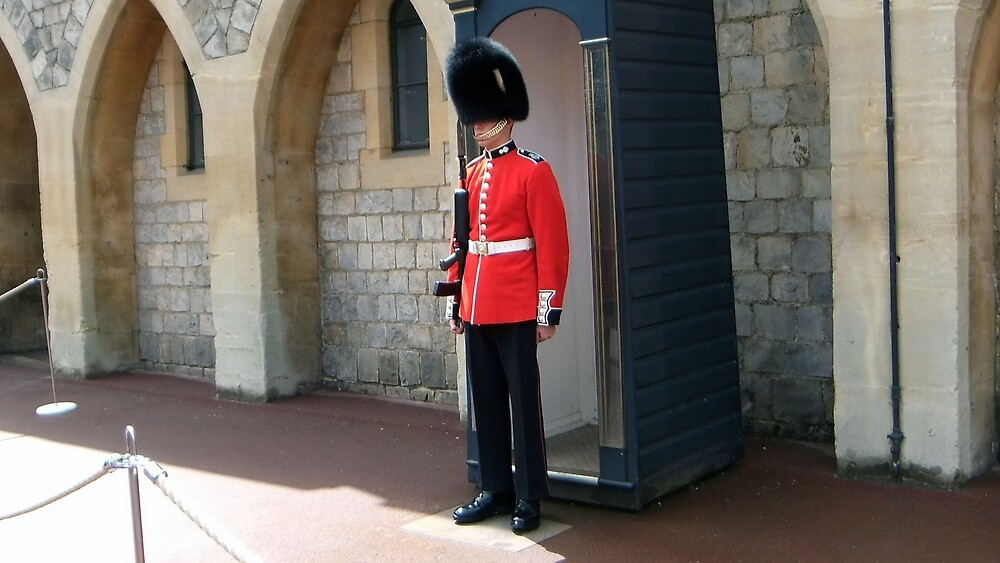 guard at Windsor Castle by non-stressed