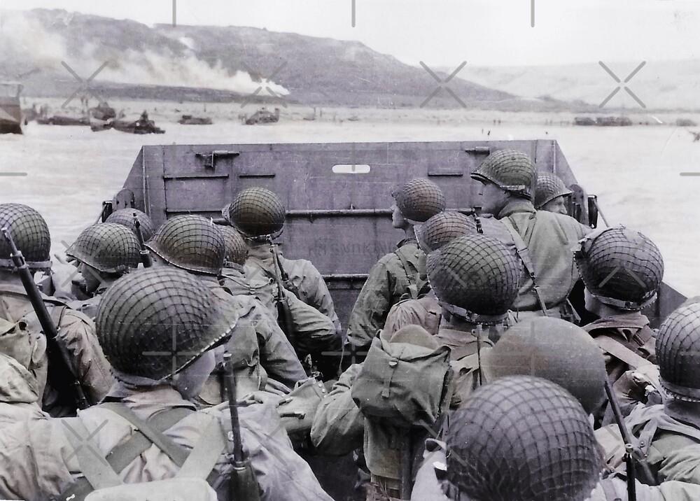 Landing on Beach D-Day by diane  addis
